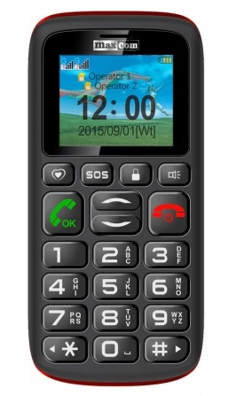 MAXCOM Comfort MM428 DS gsm tel. Black/Red
